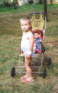 vor Kinderwagen